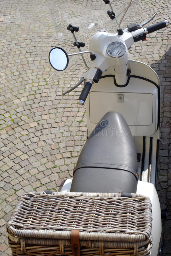 Scooter. Close up detail of scooter royalty free stock images