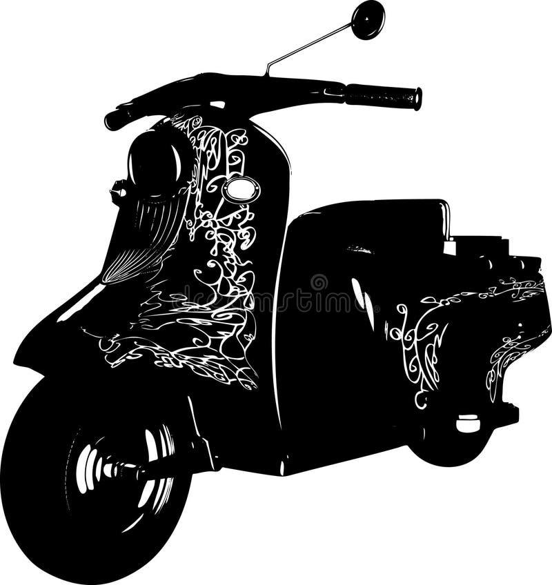 scooter royalty ilustracja