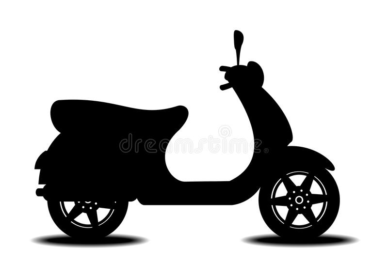 Scooter royalty free illustration