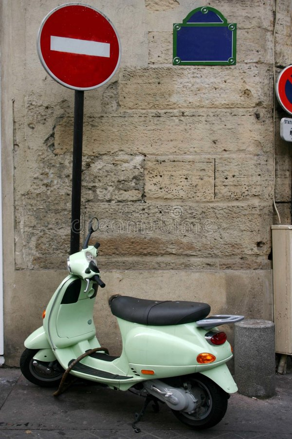Scooter royalty free stock photography