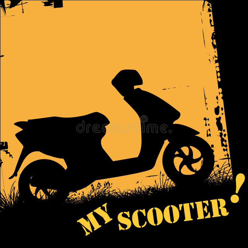 Download Scooter stock vector. Image of recreational, black, dirt - 9636554