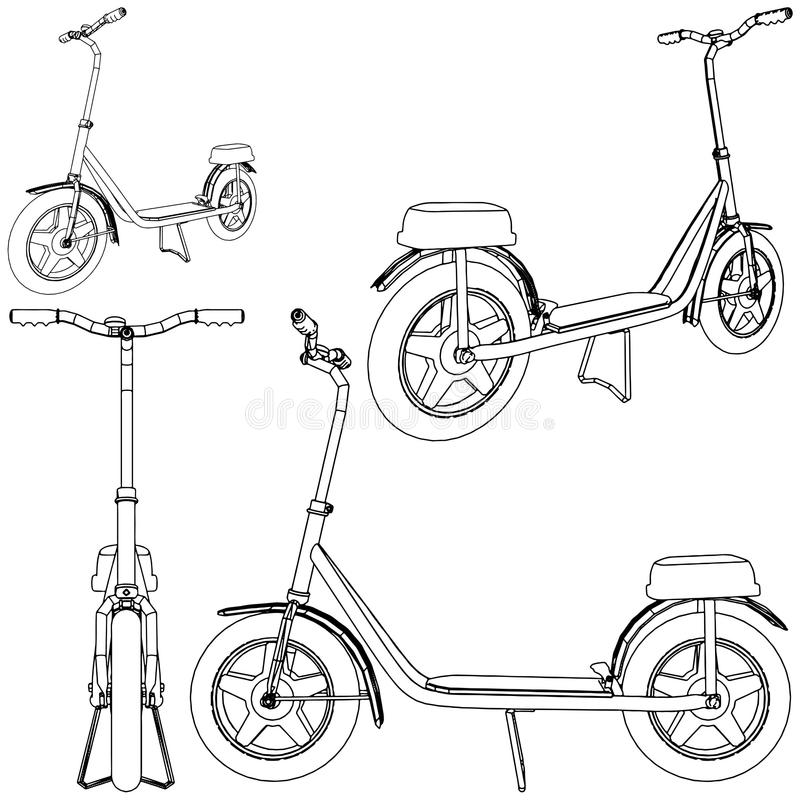 Download Scooter Bicycle Vector 01 stock vector. Image of style - 17059352
