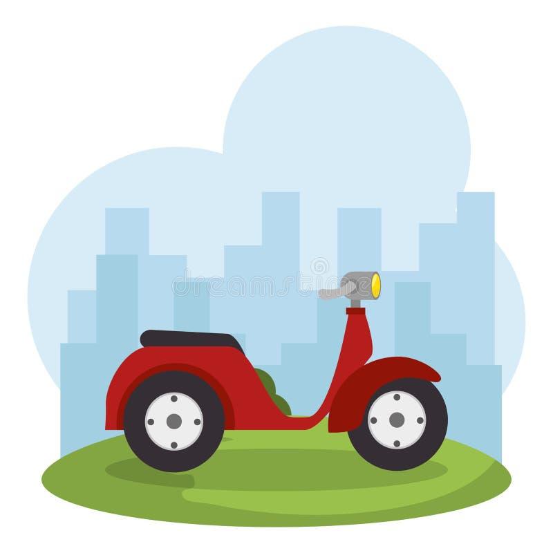Scooter bike isolated icon. Vector illustration design stock illustration