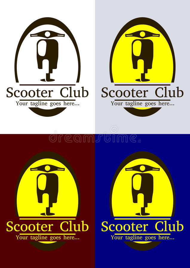 Scooter Club Logo Template. Scooter icon vector logo design template. Come with editable vector EPS included stock illustration