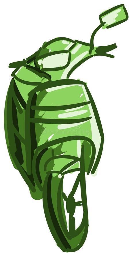 Scooter coloré stylisé intéressant d'isolement illustration libre de droits