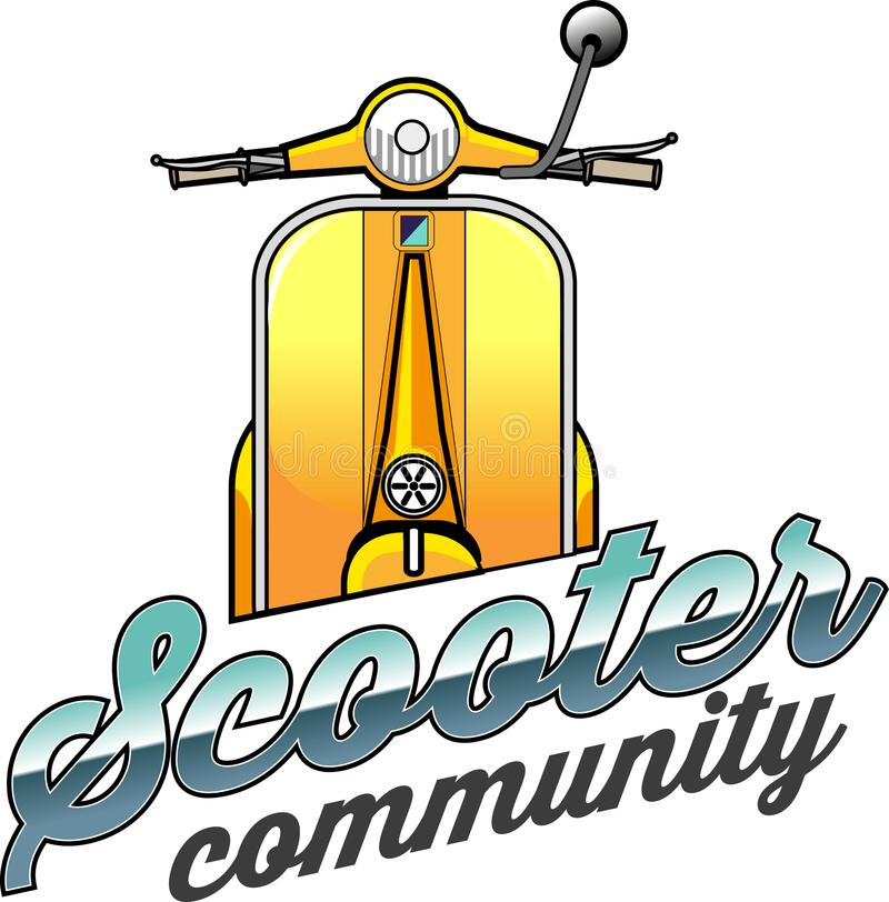 Scooter community symbol. Vector illustration, Scooter community symbol for vespa or scooter lover stock illustration