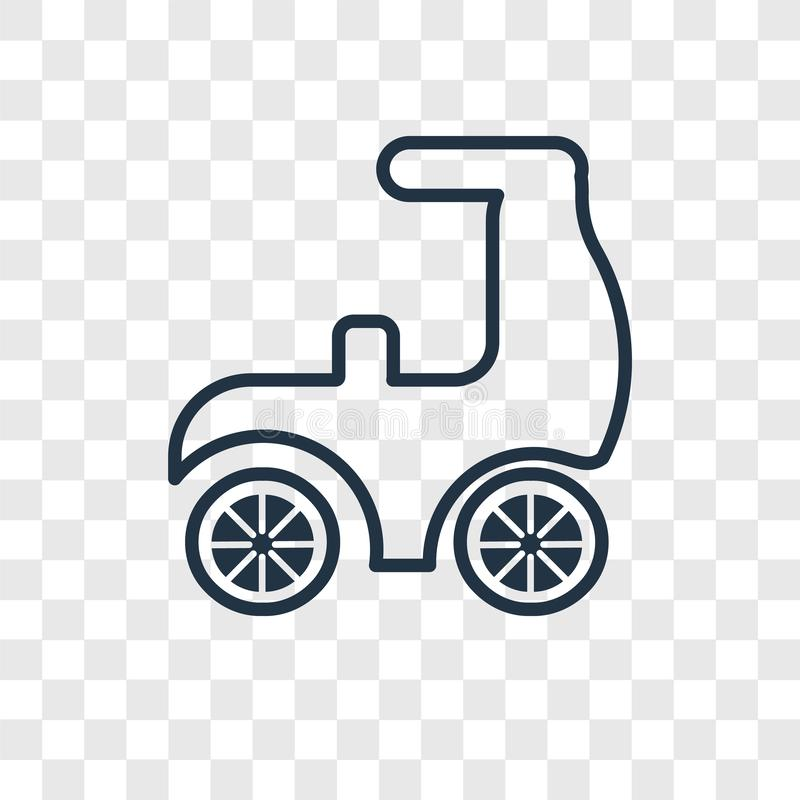 Scooter concept vector linear icon isolated on transparent background, Scooter concept transparency logo in outline style royalty free illustration