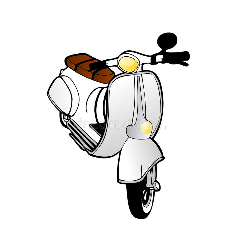 Scooter de cru de vecteur illustration de vecteur
