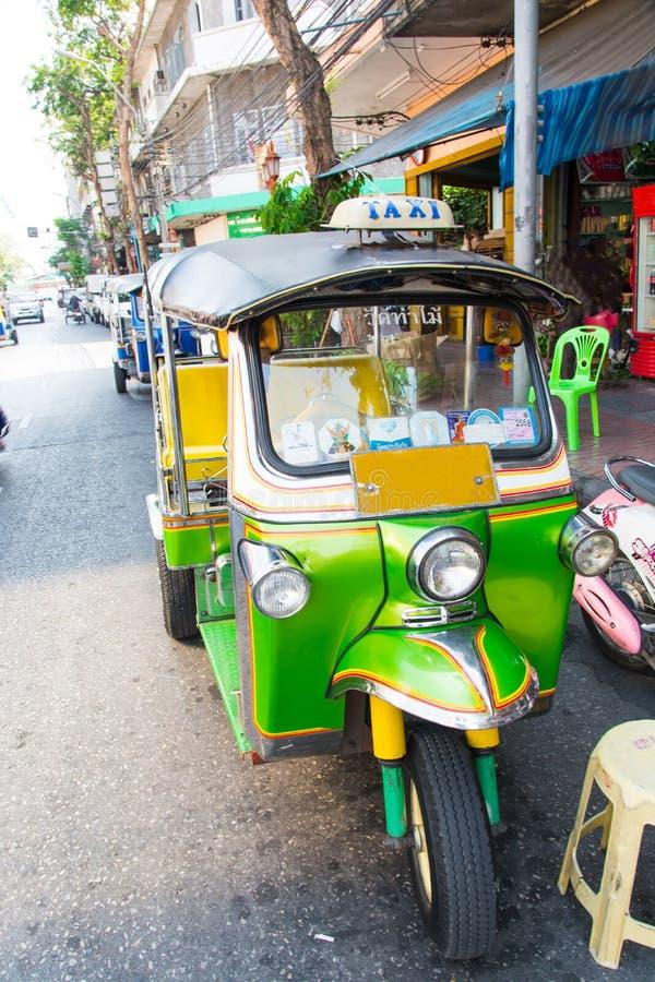 Scooter de taxi de Tuktuk, Bangkok Thaïlande photos libres de droits
