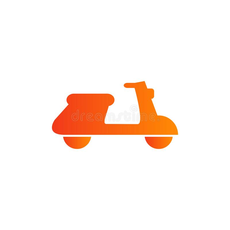 Scooter delivery icon vector in colorful vibrant style. Scooter delivery icon vector design vector illustration