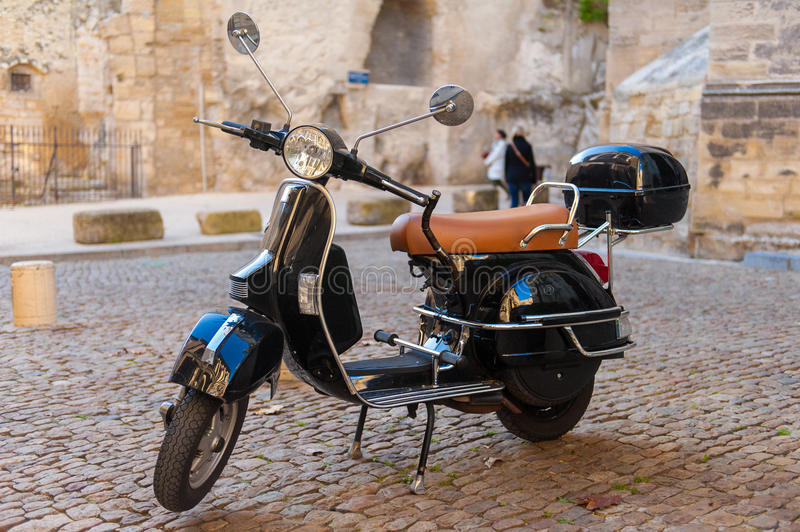 A Scooter in France stock photos