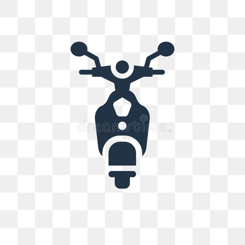 Scooter front view vector icon isolated on transparent background, Scooter front view transparency concept can be used web and m. Obile vector illustration