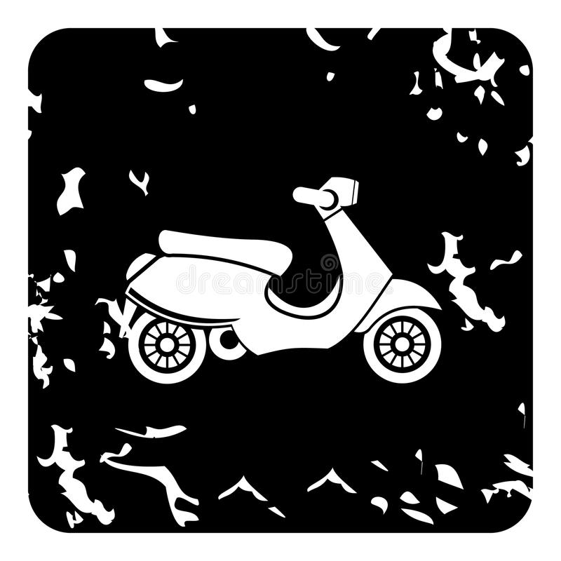 Scooter icon, grunge style. Scooter icon. Grunge illustration of scooter icon for web royalty free illustration
