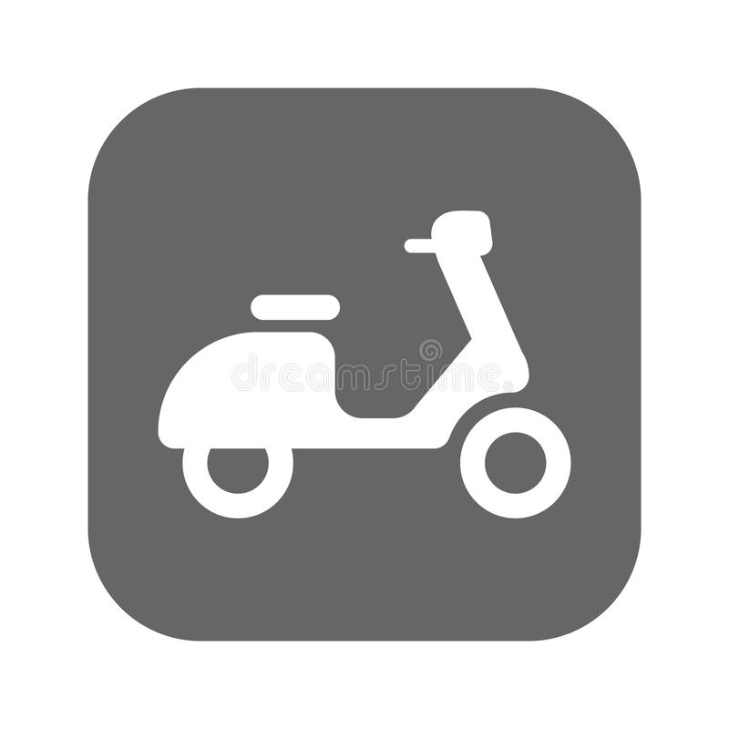 Scooter icon isolated on background. Modern flat pictogram, business, marketing, internet concept. Trendy Simple vector symbol for vector illustration