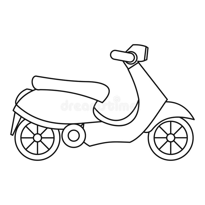Scooter icon, outline style. Scooter icon. Outline illustration of scooter icon for web royalty free illustration