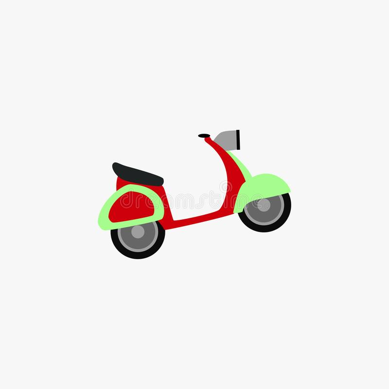 Scooter icon. Retro scooter. Vector illustration. EPS 10 vector illustration
