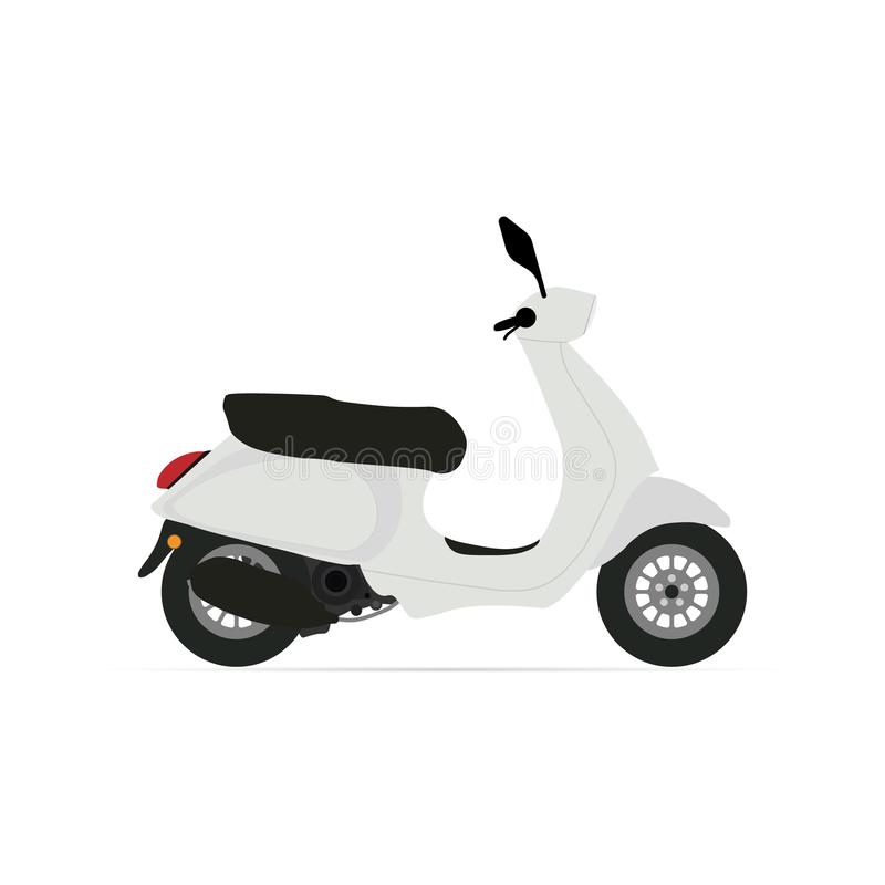 Scooter icon with shadow. Flat style. Vector royalty free illustration