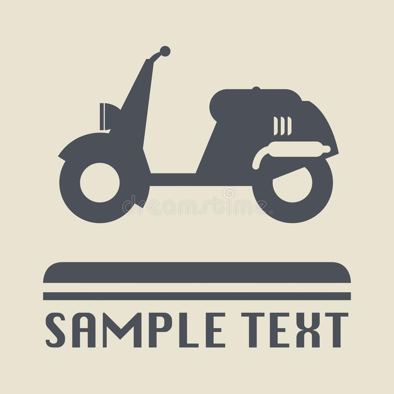 Scooter icon or sign. Vector illustration stock illustration