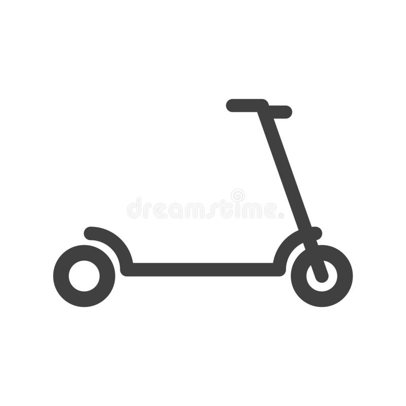 Scooter icon. Vector on a white background. Scooter icon. Vector on a white background royalty free illustration