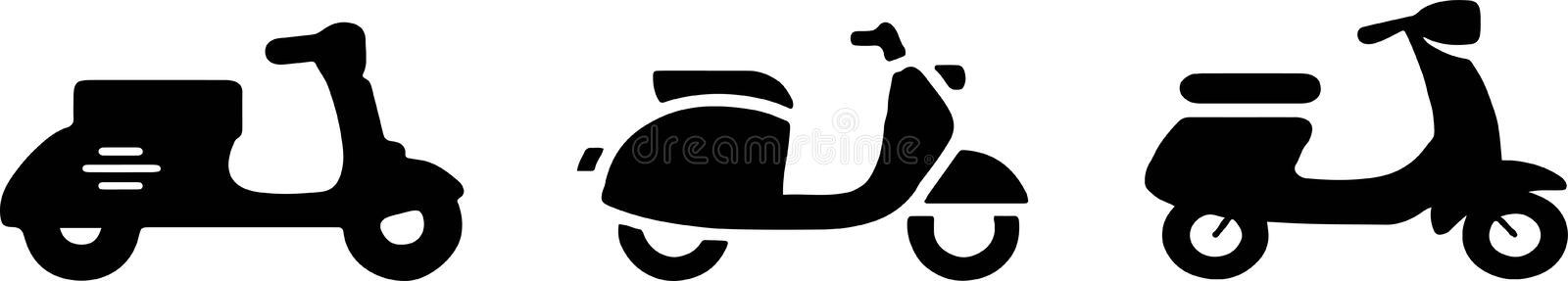 Scooter icon on white background vector illustration