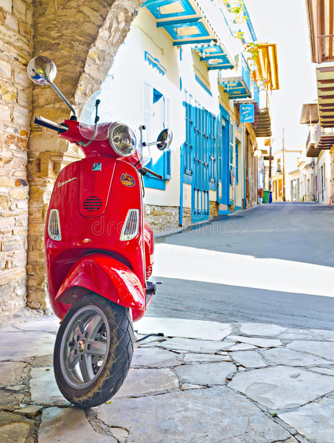 The scooter royalty free stock photos