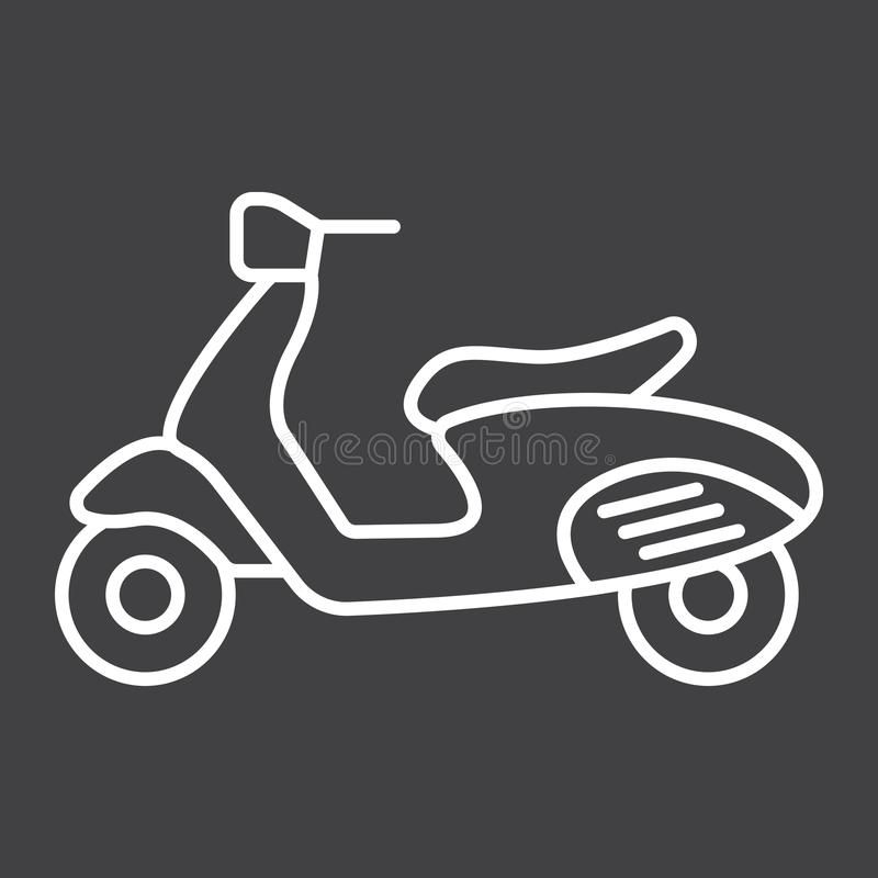 Scooter line icon, transport and vehicle vector illustration
