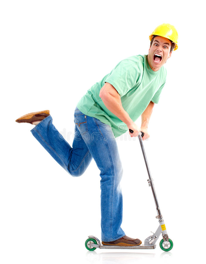 Scooter Man Royalty Free Stock Photos