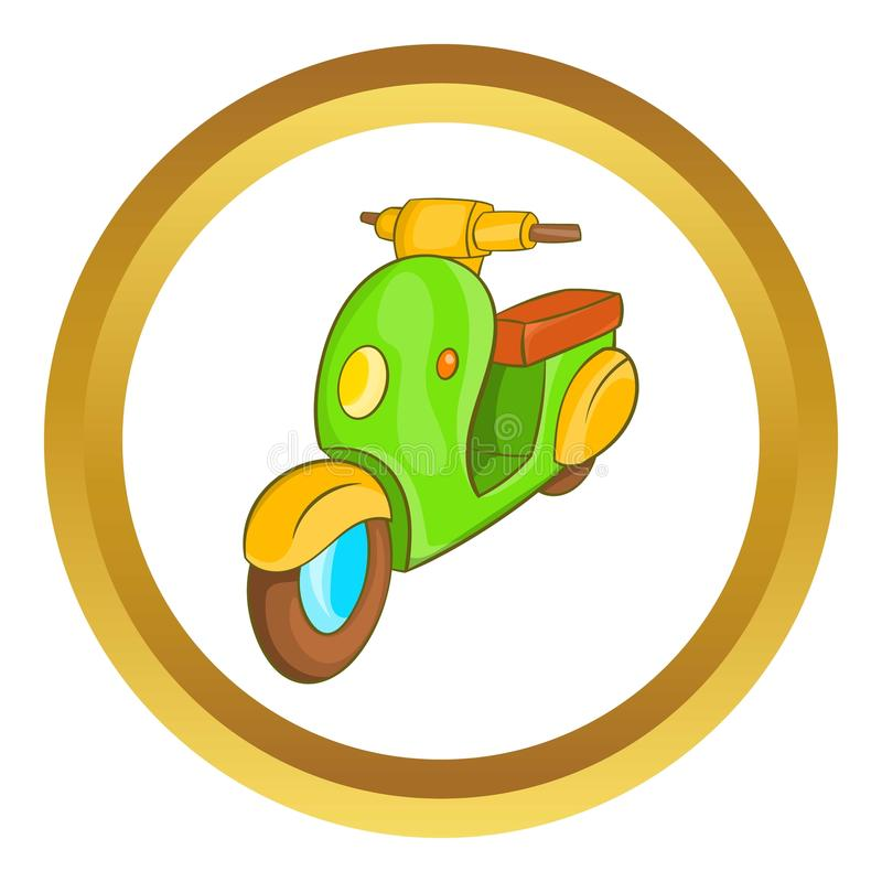Scooter motorbike icon stock illustration