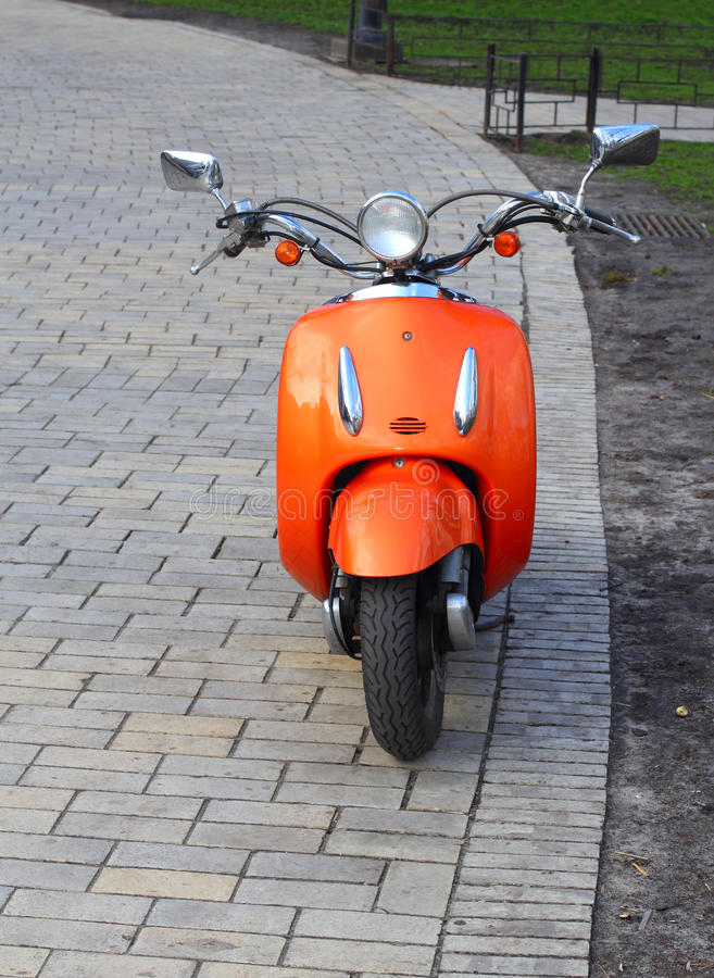 Scooter orange image stock