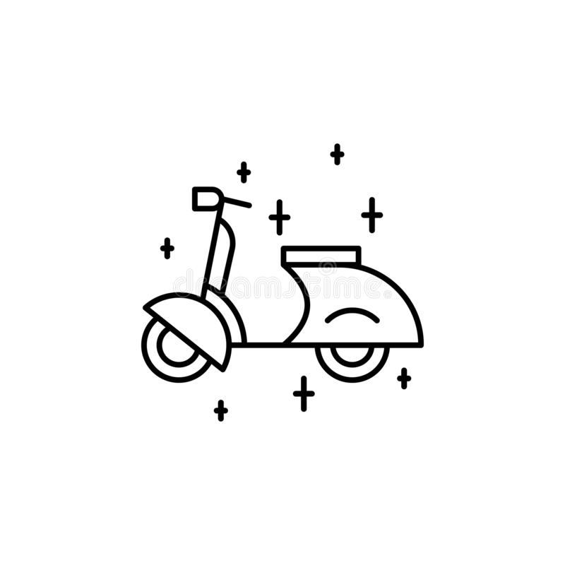 Scooter outline icon. Element of lifestyle illustration icon. Premium quality graphic design. Signs and symbol collection icon for. Websites, web design, mobile vector illustration