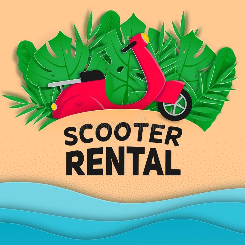 Scooter rental vector banner royalty free illustration