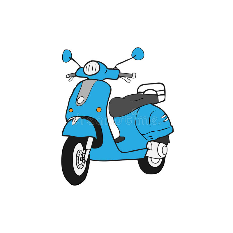 Scooter vector illustration