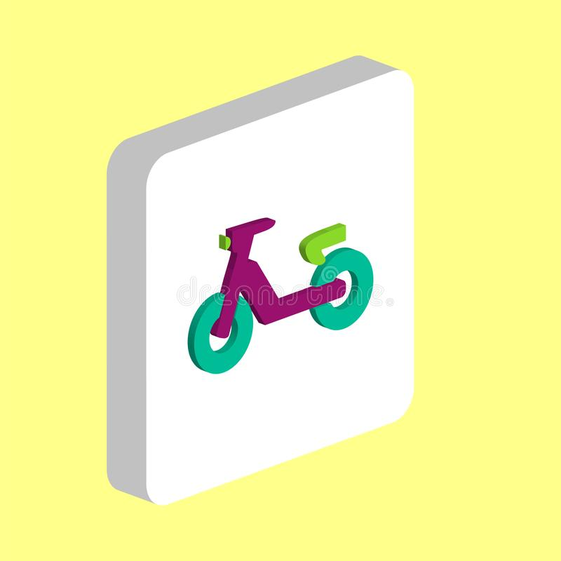 Scooter computer symbol stock illustration