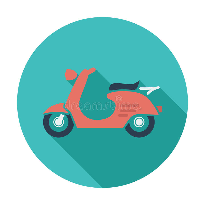 Scooter. Single flat color icon. Vector illustration vector illustration
