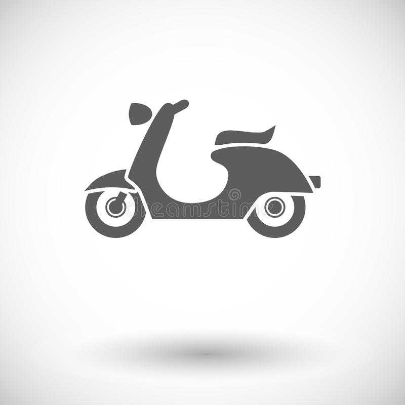 Scooter. Single flat icon on white background. Vector illustration royalty free illustration