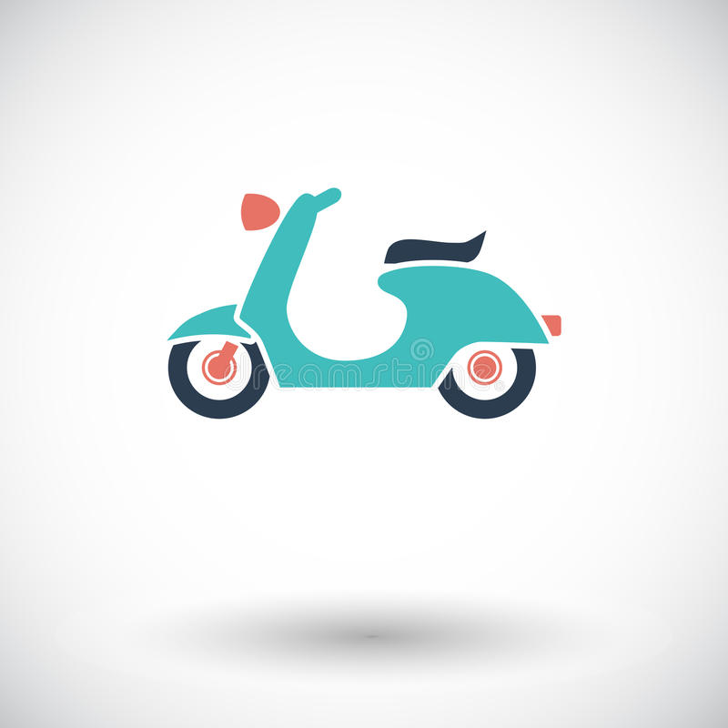 Scooter. Single flat icon on white background. Vector illustration vector illustration