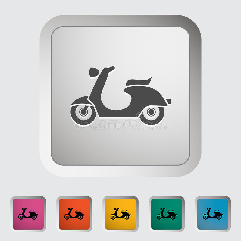 Scooter. Single icon Vector illustration vector illustration