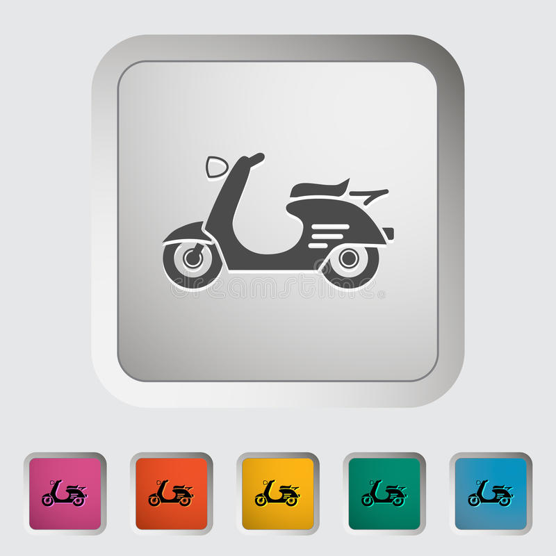 Scooter. Single icon Vector illustration stock illustration