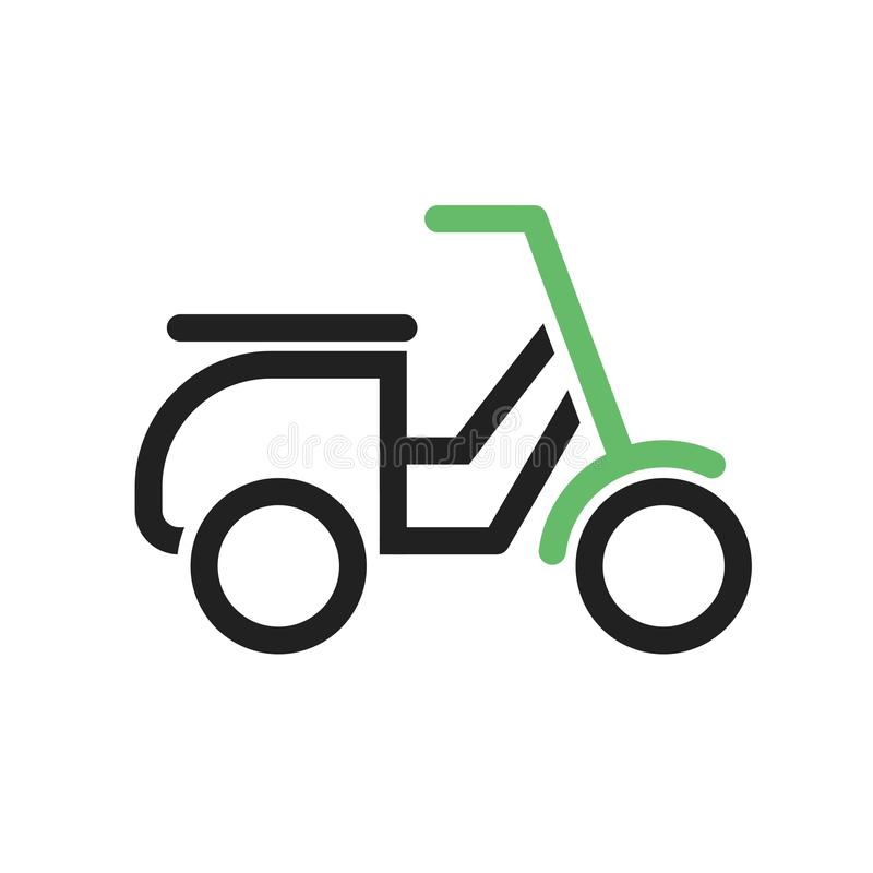 Scooter. Speed icon vector image. Can also be used for vehicles. Suitable for mobile apps, web apps and print media royalty free illustration