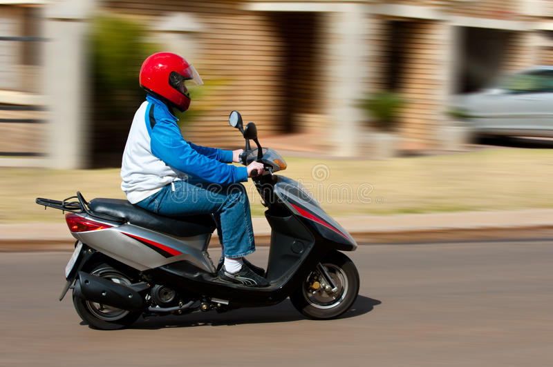 Scooter Speeding Royalty Free Stock Image