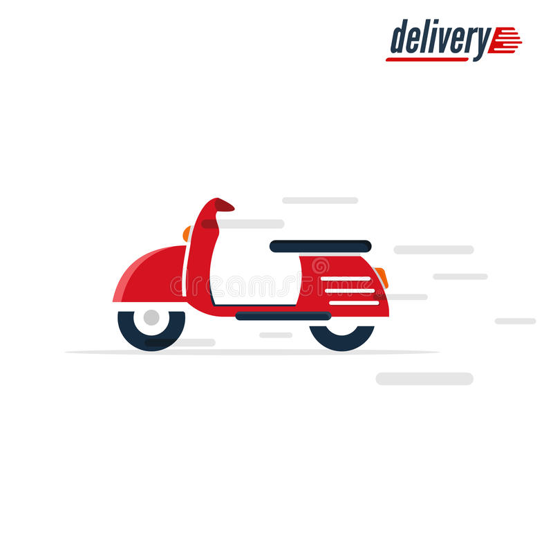 Scooter - transport design. Motorcycle fast delivery icon royalty free stock images