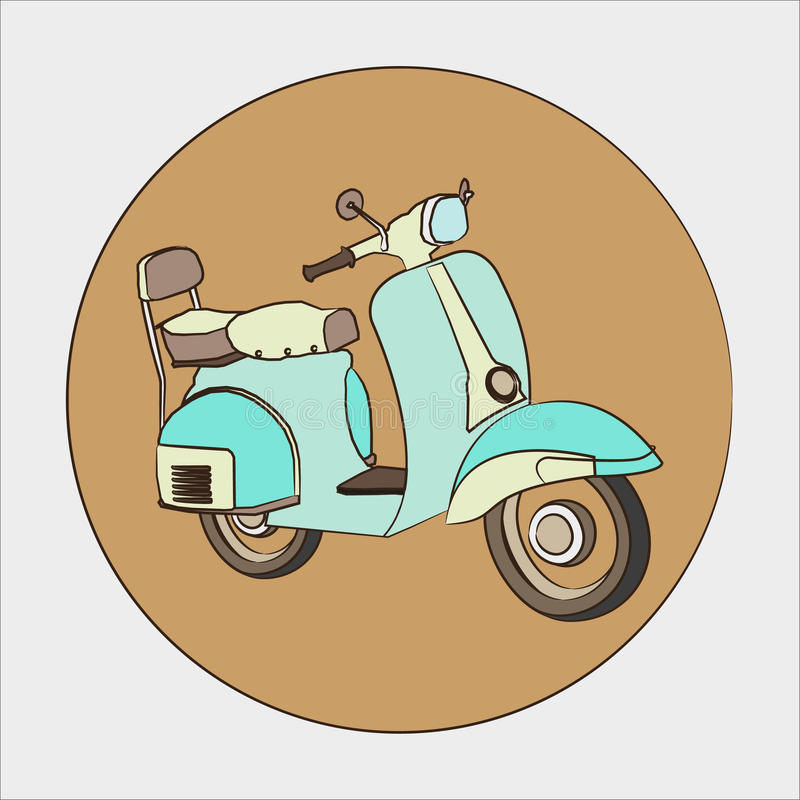 Scooter vector. Illustrations of the italian retro scooter + vector eps file vector illustration