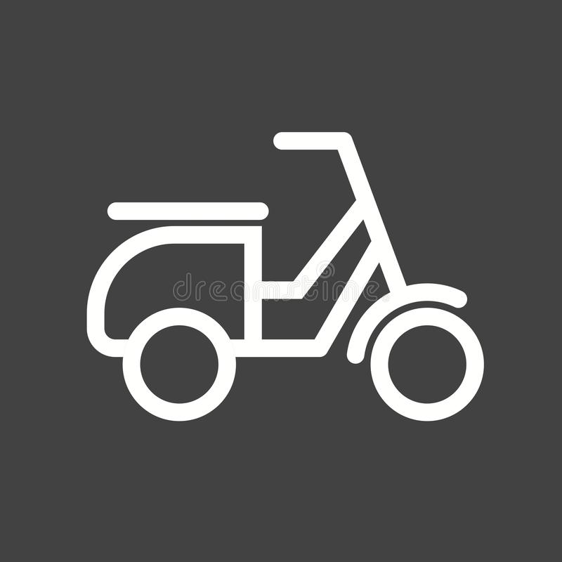 Scooter. Vespa, speed icon vector image. Can also be used for vehicles. Suitable for mobile apps, web apps and print media royalty free illustration