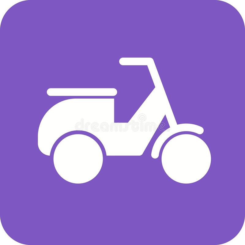Scooter. Vespa, speed icon vector image. Can also be used for vehicles. Suitable for mobile apps, web apps and print media stock illustration