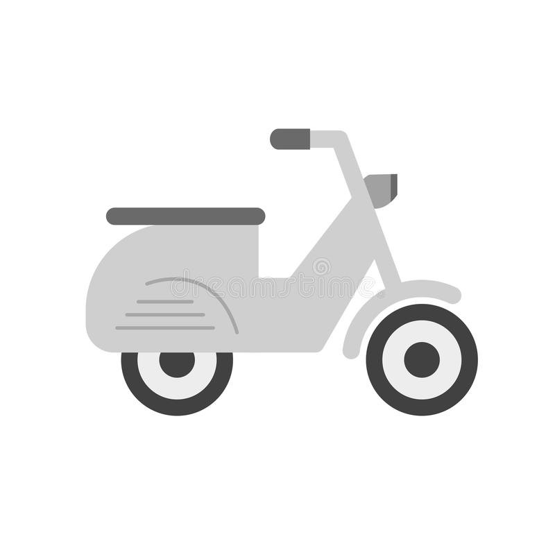 Scooter. Vespa, speed icon vector image. Can also be used for vehicles. Suitable for mobile apps, web apps and print media vector illustration