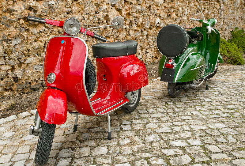 Scooters stock image