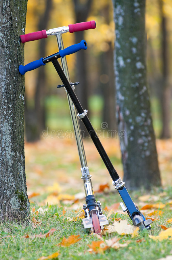 Scooters royalty free stock photo