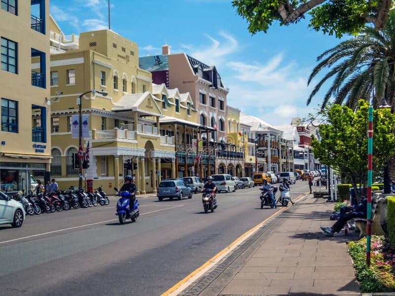 Scooters en Bermudes images libres de droits