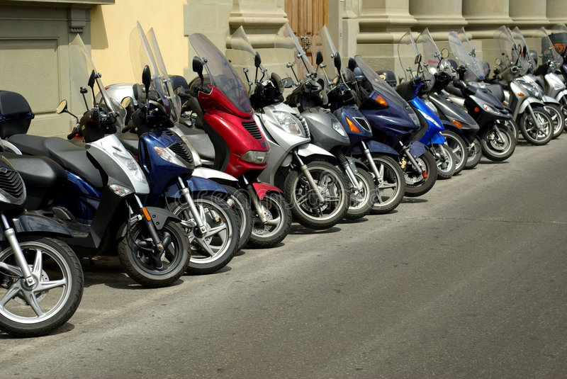 Scooters in Italy royalty free stock photo