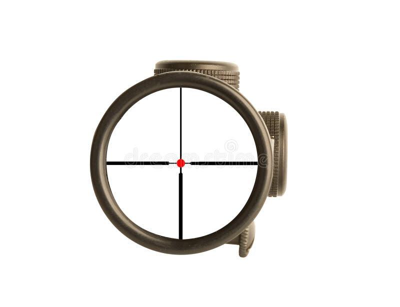 Scop concettuale del fucile di affari fotografia stock libera da diritti